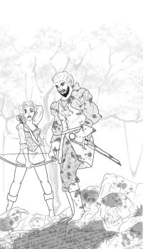 Walkabout Line Art by pristineungift