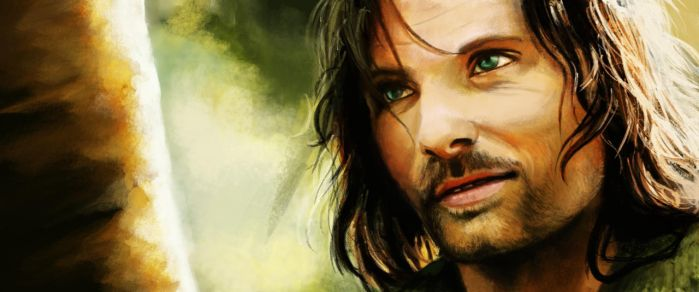 Aragorn painting - LotR by Zevanox