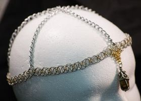 Chainmaille headdress by ravencry
