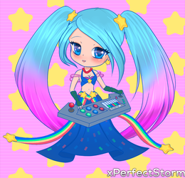 Chibi: Arcade Sona by xPerfectStorm