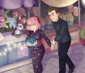 Flower Festival Date: Shane Edition by Cia-Doodles