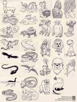 Cryptozoology and Inktober Art Challenge 2015 by Silvertide