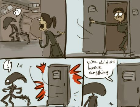 Alien: Isolation, doodles 1 by Ayej