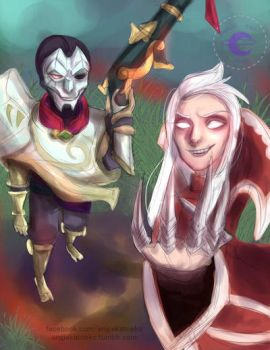 Jhin and Vladimir by AngieKatNekoOfficial