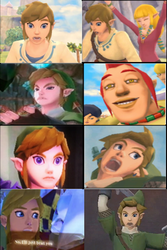 Memorable Skyward Sword Faces by Rinni-Boo