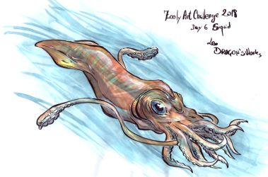 Day 6 Zooly - Squid by LeoDragonsWorks