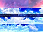 12 FREE ANIME SKY BACKGROUNDS - PACK 6 by ERA-7