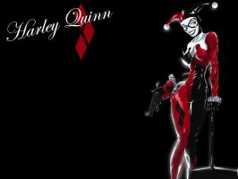 Harley_Quinn_Wallpaper by Langaw