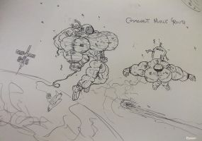 Cosmonaut Muscle Growth by free42dream