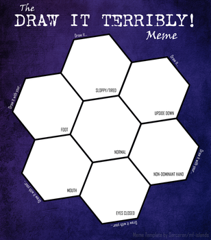 Draw It Terribly! Meme (blank) by Sorcaron