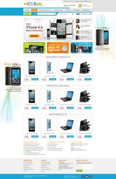 Go Cell Hubb - BigCommerce Template design by artistsanju