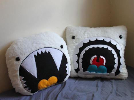 Giant Yeti Pillows by loveandasandwich