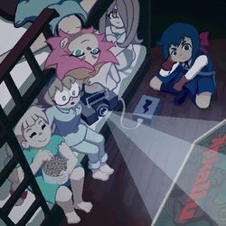 [LWA GIF] Let's watch some scary films! by StarlettAnimation