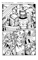 Thor and Hela page 1 comic by AndrePaploo