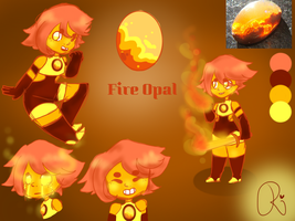 Fire Opal ~(Steven Universe)~ OC Reference sheet by RaeRaeGaming