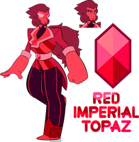 Cass-EX Surprise Custom- Red Imperial Topaz by XombieJunky
