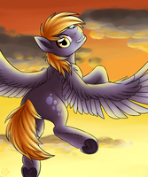 Derpy Sunset ~ by NothingSpecialx9