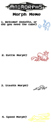 .:Animorphing Meme:. by Doodlee-a