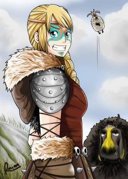 Astrid in Dragon Racing by Raian-Kun