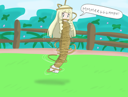 Lillie mummified in rope !!! by Gregory-GID-DID