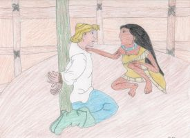 Pocahontas and John Smith by DisneyPrincessNeeNee