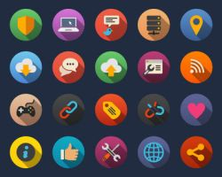 Web and Internet Flat Icons by Alexgorilla