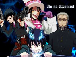 Ao no Exorcist Wallpaper by minniusui3211