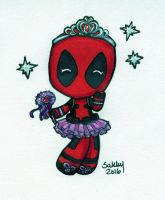 Princess Deadpool Chibi by SarahsPlushNStuff