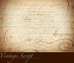 Vintage Script Brush Sampler by asunder