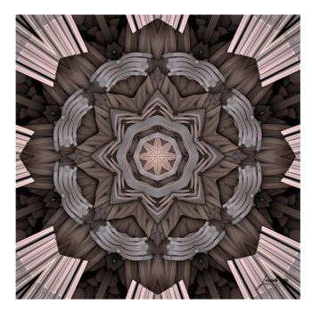 Charcoal Oragami Fractal by 12CArt