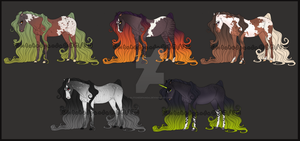 Horse Adoptables (0/5) - CLOSED - Auction by GlitchedPanda
