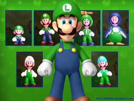 NSMBW Luigi Wallpaper by N64chick