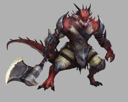 Dragonborn Barbarian by jeffchendesigns