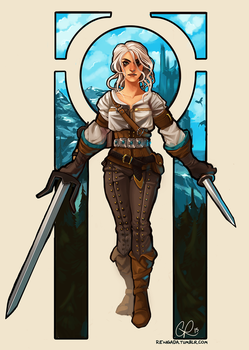 Ciri The Witcher 3: Wild Hunt by CPatten