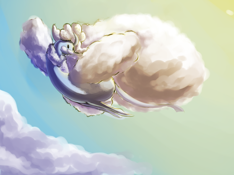 Mega Cloud birb by Litra-head