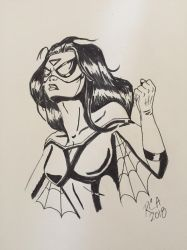 Spider-Woman sketch by robertamaya