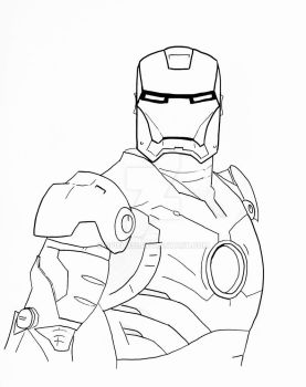 IronMan Line Art by gfield35