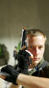 Close Quarters-Chris Redfield cosplay by Fallen-Warrior1023