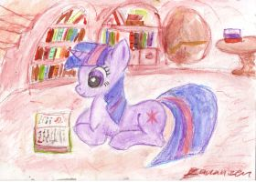A quiet moment in the library by bananizen