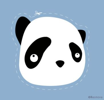Panda sticker by Neonova