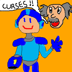 Megaman By Timmy, Age 8 by woekitten