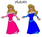 Princess Aurora Dress In Pink And Blue Colors by ESPIOARTWORK-102
