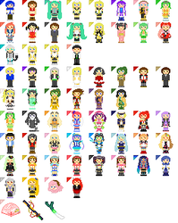 Vocaloid Cursors v5 by pineapplecupcakes