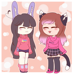 ~Kitty And Bun by Nini-the-inkling