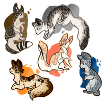 Kitty adoptable batch | CLOSED | Set price by maple-syrvp