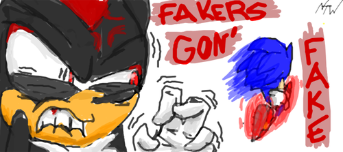 Fakers Gon' Fake? by Nomad-The-Hedgehog