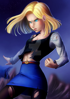 Android 18 by rodrigues-feh