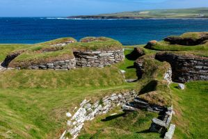 Skara Brae. Ancient footsteps in time. by LordLJCornellPhotos
