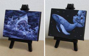 Mini Shark and Whale 3 and 4 Aug2017 by crazycolleeny