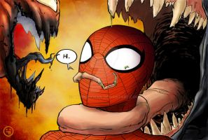 Spidey, Venom and Carnage by AndrewKwan